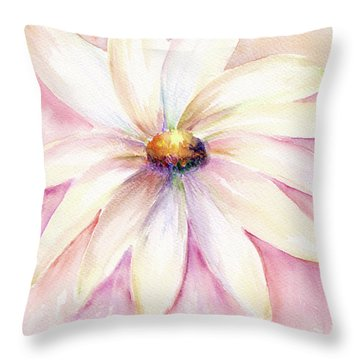 Throw Pillow featuring the painting Morning Mist by Elizabeth Lock