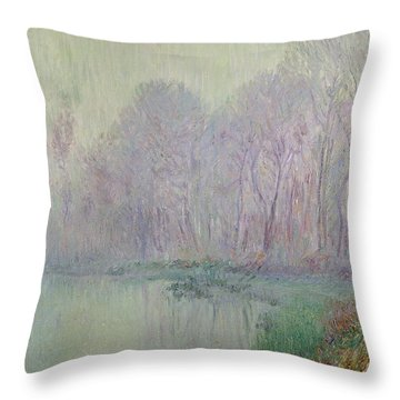 Morning Mist Throw Pillow by Gustave Loiseau