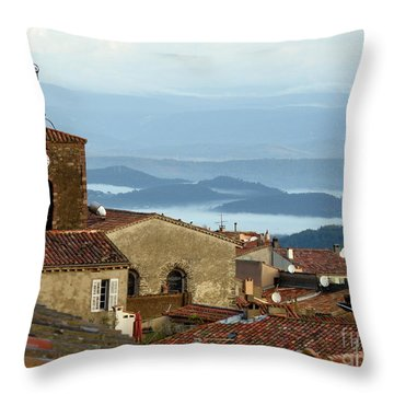 Morning Mist In Provence Throw Pillow by Lainie Wrightson