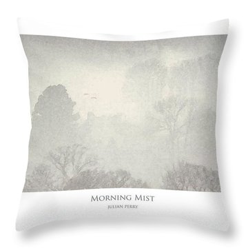 Throw Pillow featuring the digital art Morning Mist by Julian Perry