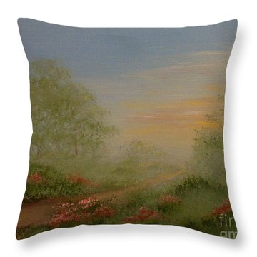 Morning Mist Throw Pillow by Leea Baltes