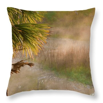 Throw Pillow featuring the photograph Morning Mist by Margaret Palmer