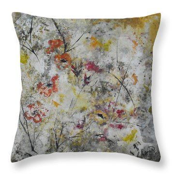 Morning Mist Throw Pillow by Ruth Palmer