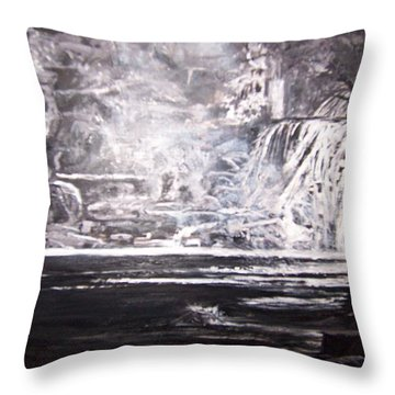 Morning Mist -theresa Falls Throw Pillow