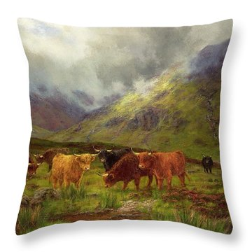 Morning Mists Throw Pillow by Louis Bosworth Hurt