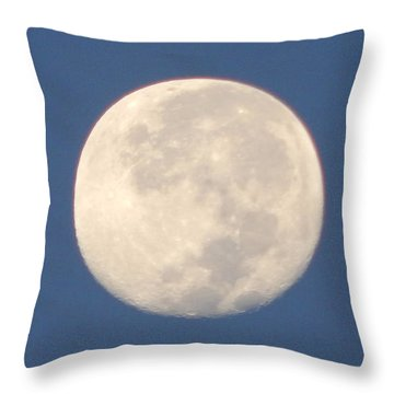 Throw Pillow featuring the photograph Morning Moon by Barbara Tristan