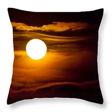 Morning Moonset Throw Pillow