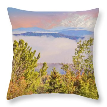 Morning Mountain View Northern New Hampshire. Throw Pillow