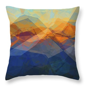 Morning Mountain View Throw Pillow