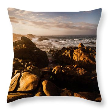 Morning Ocean Panorama Throw Pillow by Jorgo Photography - Wall Art Gallery