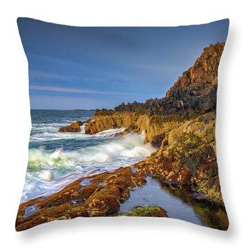 Morning On Bailey Island Throw Pillow