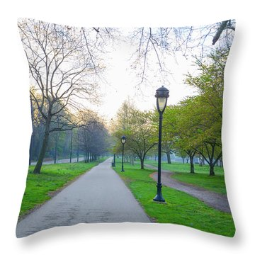 Throw Pillow featuring the photograph Morning On Kelly Drive In The Spring by Bill Cannon