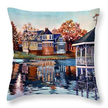Morning On Silver Lake Throw Pillow