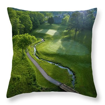 Morning On The 9th Throw Pillow