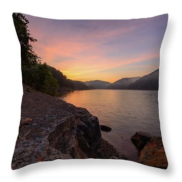 Morning On The Bay Throw Pillow