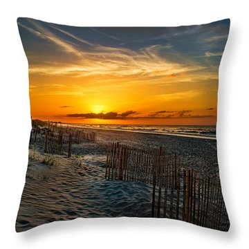 Morning On The Bogue Banks Throw Pillow