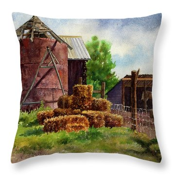 Morning On The Farm Throw Pillow