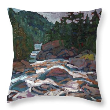 Morning On The Grande Chute Throw Pillow