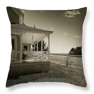 Throw Pillow featuring the photograph Morning On The Marsh by Samuel M Purvis III