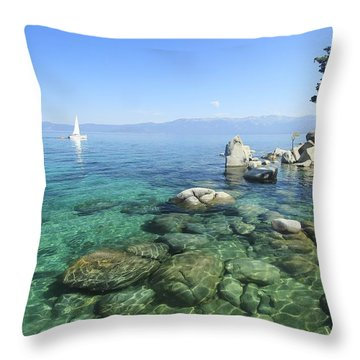 Throw Pillow featuring the photograph Morning On The Water by Sean Sarsfield