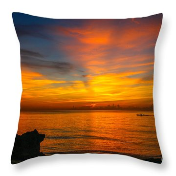 Morning On The Water Throw Pillow