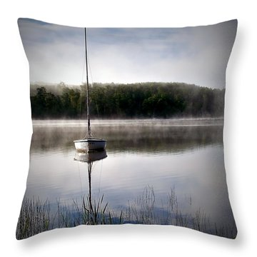 Morning On White Sand Lake Throw Pillow by Lauren Radke