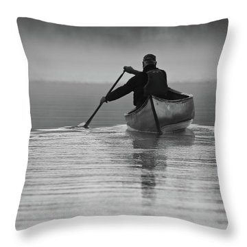 Morning Paddle Throw Pillow