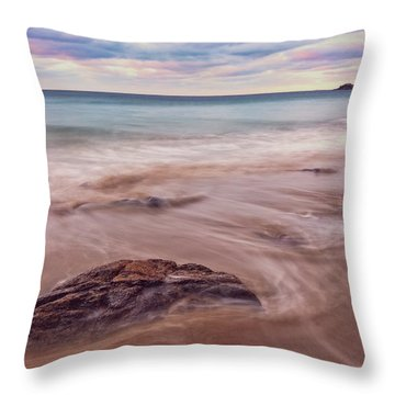 Throw Pillow featuring the photograph Morning Pastels Singing Beach Ma by Michael Hubley