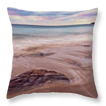 Morning Pastels Singing Beach Ma Throw Pillow