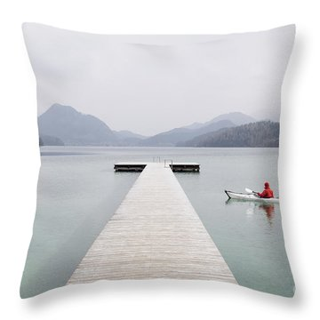 Morning Patrol Throw Pillow by JR Photography