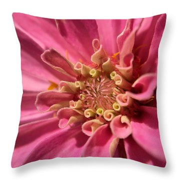 Morning Pink Throw Pillow