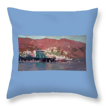 Morning Pleasures - Catalina Harbor Throw Pillow