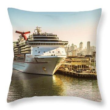 Morning Port Throw Pillow