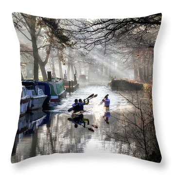 Morning Practice Throw Pillow