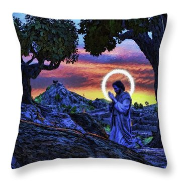 Morning Prayers Throw Pillow