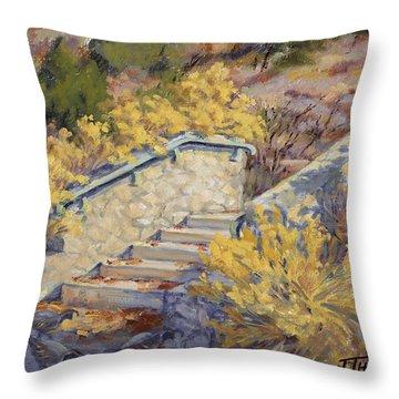 Morning Quail  Throw Pillow by Jane Thorpe