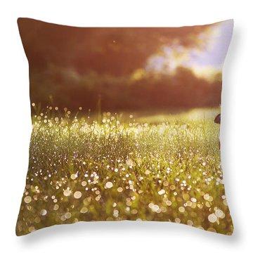 Morning Rabbit Throw Pillow