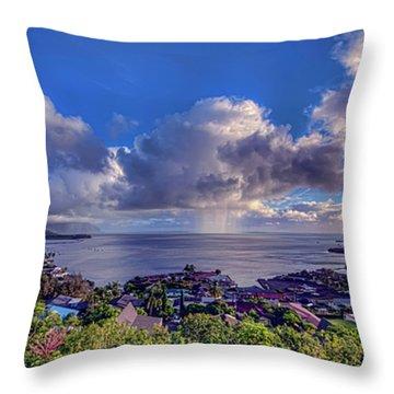 Morning Rain In Kaneohe Bay Throw Pillow