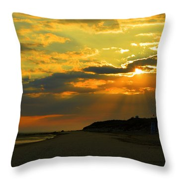 Morning Rays Over Cape Cod Throw Pillow by Dianne Cowen