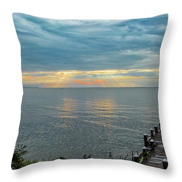 Morning Rays Throw Pillow