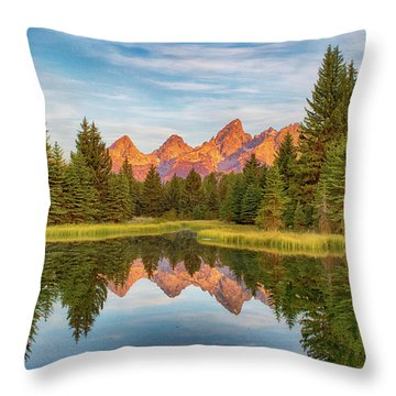 Throw Pillow featuring the photograph Morning Reflections by Mary Hone