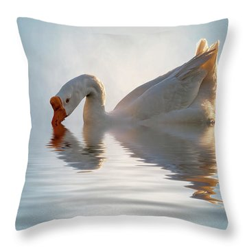 Morning Refresh Throw Pillow by Cyndy Doty