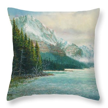 Morning Ride Throw Pillow