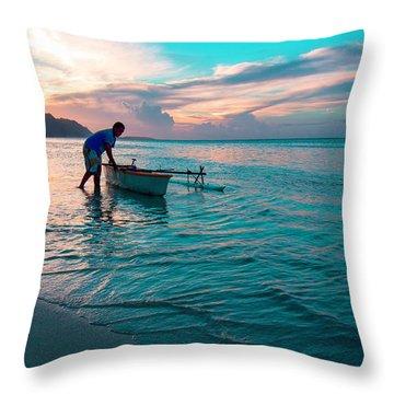 Morning Ritual Throw Pillow