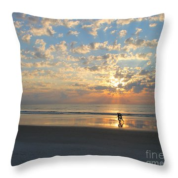 Throw Pillow featuring the photograph Morning Run by LeeAnn Kendall