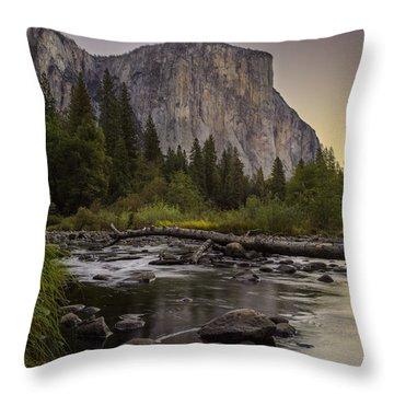 Morning Salutes El Capitan Throw Pillow