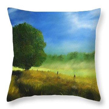 Morning Shade Throw Pillow