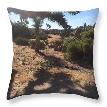 Morning Shadows Throw Pillow