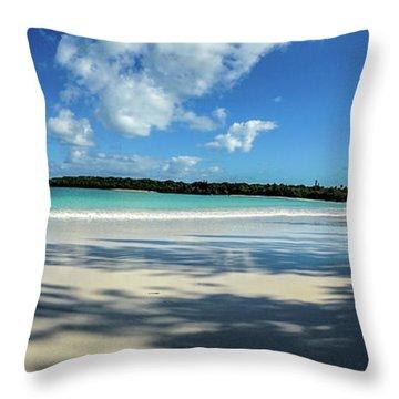 Morning Shadows Ile Des Pins Throw Pillow