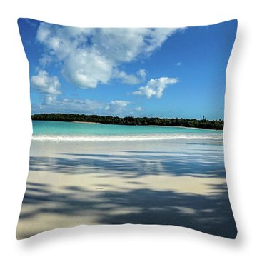 Morning Shadows Ile Des Pins Throw Pillow